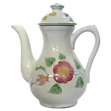 Herend Village Pottery Wildflower Coffee Pot