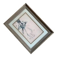 Degas Lithograph In Gilt Wood Frame