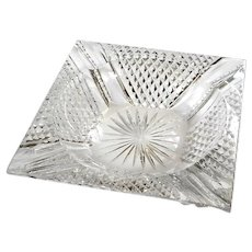 Bohemian Cut Crystal Pipe Tray