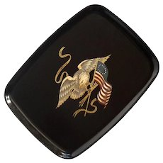 Couroc Of Monterey Eagle And Flag Tray