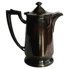 Cherry Hill Lodge Hotel Silver Coffee Pot, Circa 1950