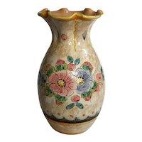 Vintage Italian Deruta Pottery Vase