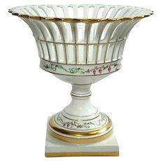 Vista Alegre Portuguese Porcelain Pedestal Fruit Basket