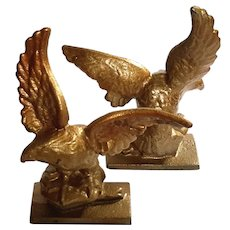 Vintage Cast Iron Eagle Bookends