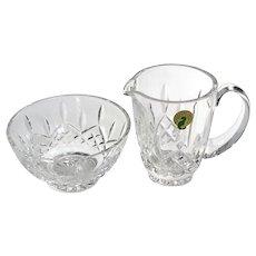 Waterford Crystal Lismore Creamer And Sugar Bowl