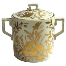 Royal Vienna Porcelain Gold Decorated Jar
