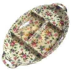 Royal Winton Old Cottage Chintz 4-Part Relish