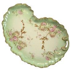 William Guerin & Co France Limoges Porcelain Floral Tray