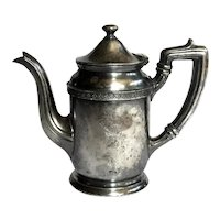 Hotel Silver Teapot With Tall Ship