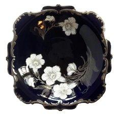 Hutschenreuther Porcelain Cobalt Hohenberg Pedestal Bowl