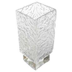 Mid-Century Modern Square Glass Vase