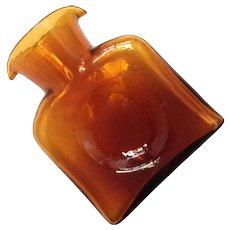 Blenko Amber Glass Water Bottle