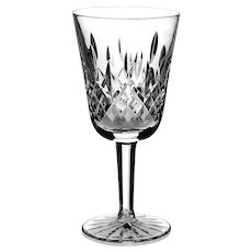 Set Of Six Waterford Crystal Lismore White Wine Glasses