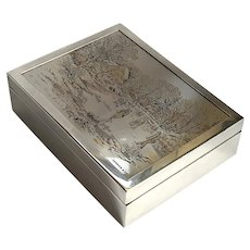 Reed And Barton Silverplate Currier & Ives Box