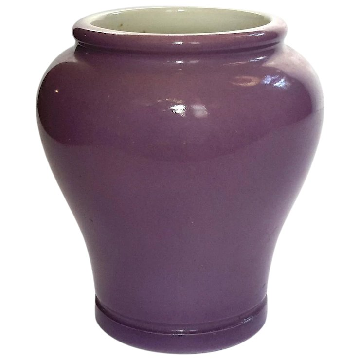 Antique Fortnum And Mason London Lavender Ironstone Vase Stephen A