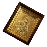 Vintage Framed Russian Icon