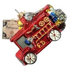 Kurt S Adler Polonaise Collection Fire Truck Christmas Ornament