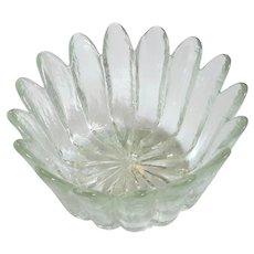 Mid-Century Vintage Blenko Glass Petals Bowl