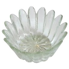 Mid-Century Vintage Blenko Glass Petals Bowl