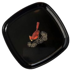 Couroc Of Monterey Cardinal Tray