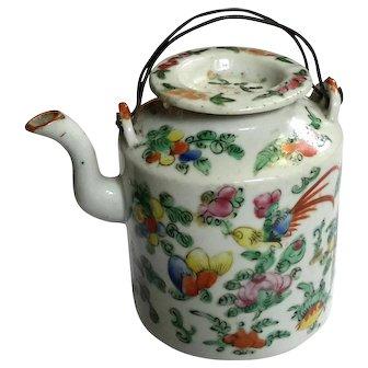 19th Century Chinese Famille Verte Porcelain Teapot