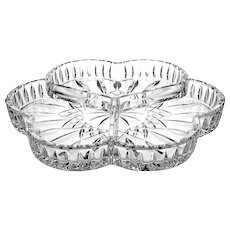 Waterford Crystal Lismore 3-Part Relish Dish