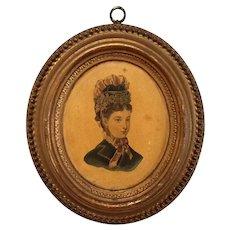 Borghese Oval Plaster Portrait Plaque
