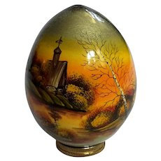 Russian Lacquered Wood Egg