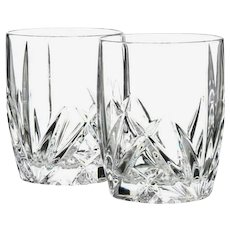 Pair Of Marquis by Waterford 'Brookside' Old Fashioned Glasses