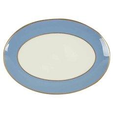 Flintridge China Sylvan Dutch Blue Oval Platter