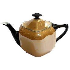 Art Deco Vintage Oremont Bavaria Lusterware Porcelain Teapot