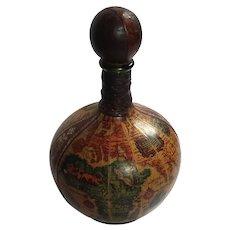 Italian Leather Globe Decanter