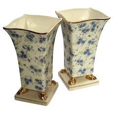Large Pair Of Chintz Porcelain Vases