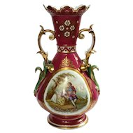 Large 19th Century Old Paris Porcelain Vase