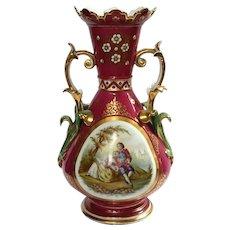 Large 19th Century Old Paris Porcelain Vase