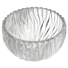 Cut Crystal Flame Pattern Bowl