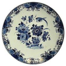 Antique Royal Delft Porcelain De Fles Plate, Circa 1907
