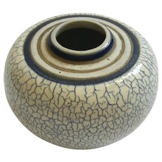 Crackle Glaze Art Pottery Vase