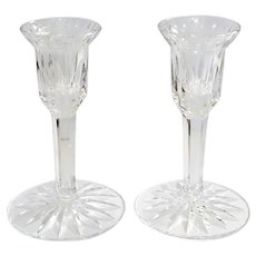 Vintage Irish Waterford Cut Crystal Candle Holders