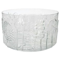 Oiva Toikka Flora Glass Bowl Arabia Finland