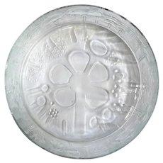 Large Oiva Toikka Flora Glass Bowl Arabia Finland