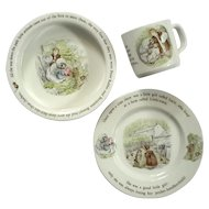 Wedgwood Porcelain Mrs Tiggy Winkle Child's Nursery Set