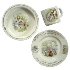 Wedgwood Porcelain Mrs Tiggy Winkle Child's Nursery Set