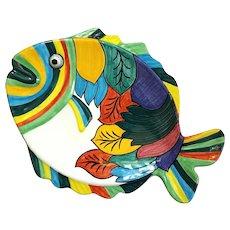 Italian Grazia Deruta Pottery Fish Platter