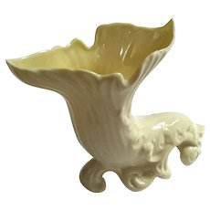 Belleek Porcelain Cornucopia Vase