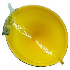 Murano Glass Lemon Bowl