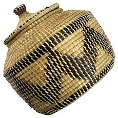 Native American Pine Needle Basket