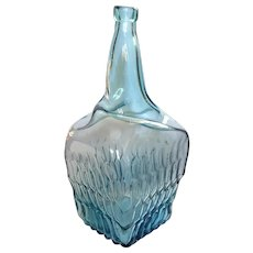 Large Vintage Blenko Glass Bottle