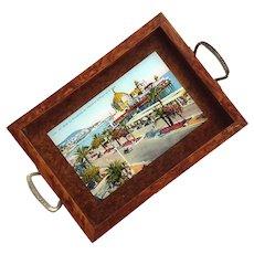 Vintage Souvenir Postcard Tray Of Nice French Riviera