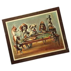 Vintage Soroka Sales Dogs Playing Roulette Wall Plaque